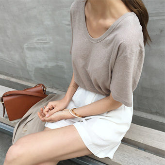 754825 - Maron Linen T-shirt
