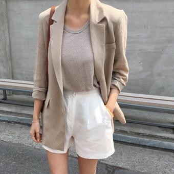 754911 - Capri linen shorts pants